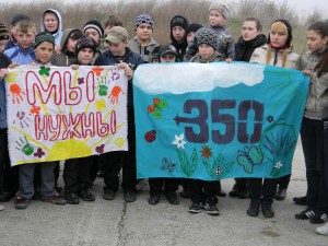 Schools kids in Belogorsk, Ukraine, organised activities for a safe-climate future