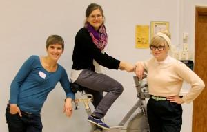 Sofi, Lovisa och Maja, dagens workshopledare från Wake-Up Call